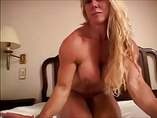 hardbody blonde milf naked on bed