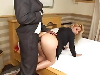 Old BBC In A Young White Blonde