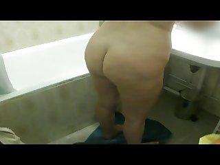 old mom 60 years bathroom