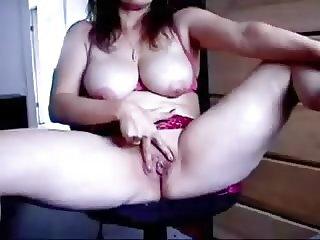 Mature Lady Masturbates.