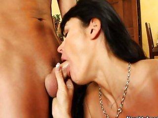 Hot mom fuck her son friend