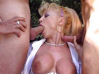 Italian mature nurse fucked