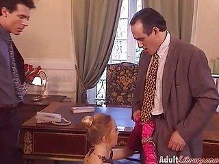 German Milf Boss fucked in Office
