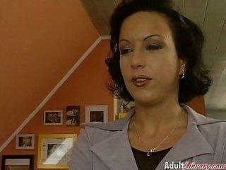 liza Gaston - German Lady fucked by two guys
