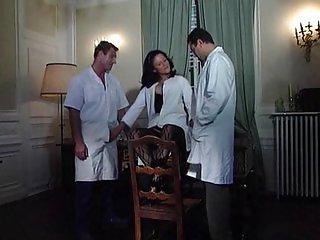 Joy Karins -German Nurse fucked by two doctor