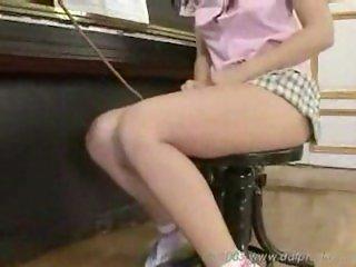 Strict feet loving teacher punishes girl