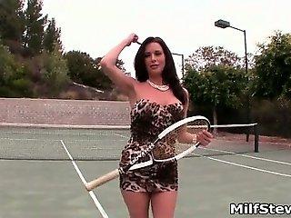 Hot brunette babe goes crazy sucking part1