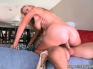 Busty blonde milf goes crazy sucking part2