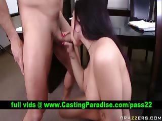 Eva Angelina busty brunette blowjob and fucking