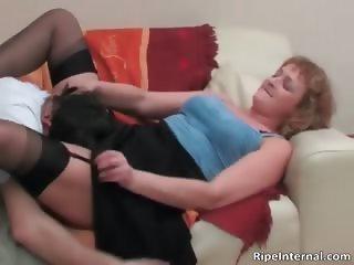 Nasty bigtit blonde MILF gets pussy part4