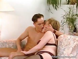 Hot big boobed nasty MILF slut sucking part3