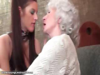 Nasty mature lesbians get horny part2