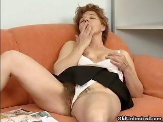 Dirty mature slut dildo fucks her hairy part5