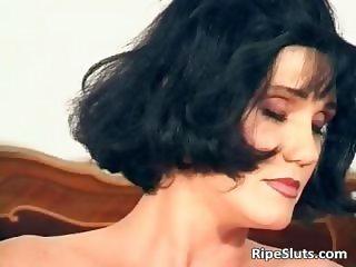 Gorgeous mature brunette fuck her wet part6