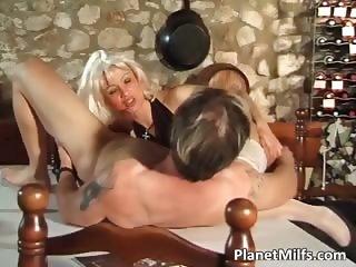 Platinum blonde milf got banged hardly part5