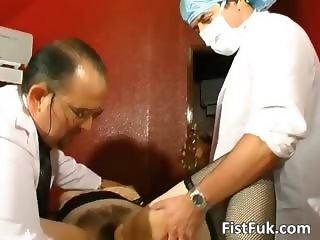 Two gynecologists screw mature sluts part2