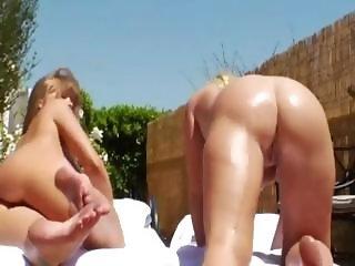 stunning anus licking and interracial