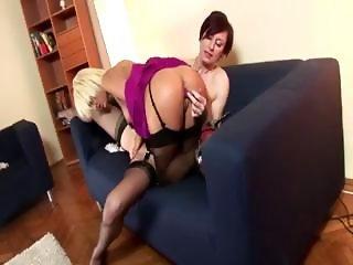Stockings mature amateur lesbians