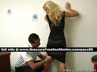 Gorgeous blonde slut on a customs control