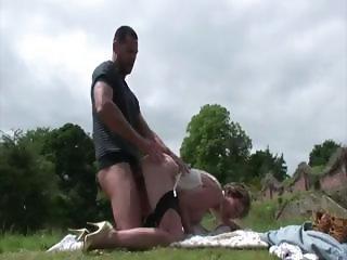 Stockings femdom slut gets a cumshot
