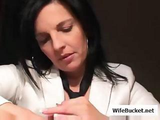 Wife Gives Amazing Handjob