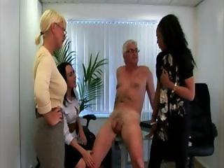 Cock tugging cfnm sluts