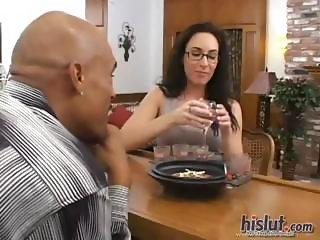 Katrina fucks a black cock