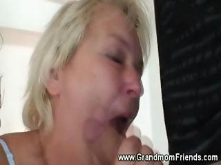 Spitroasting a horny granny