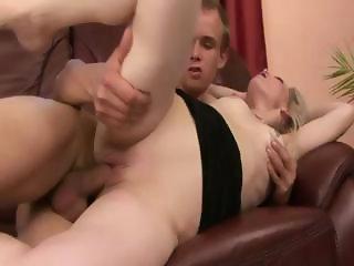 Horny granny enjoys a pussy slamming