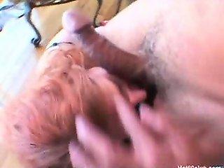 Sexy redhead mature granny hardcore fucking and facials