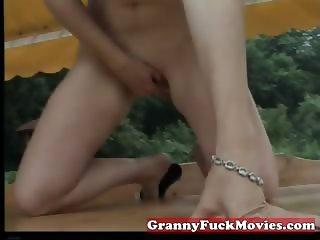 thrilling granny masturbating