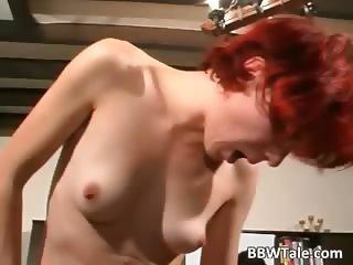 Fat slut and her redhead friend enjoying
