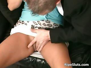 Horny black hair German slut