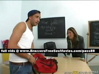 Hot mature brunette teacher