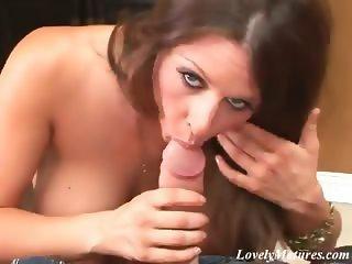 Horny brunette mature bitch Rachel Roxxx fucking a monster dick with her huge breasts