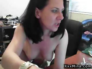 Wet pussy lady named Mina rubs and masturbates her pussy