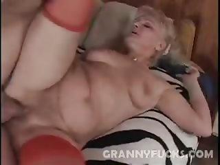 Blonde Grandma Ursula Fucked