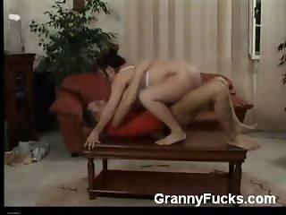 GILF Plumper Takes a Pounding