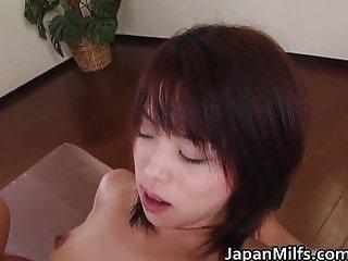 Crazy hot milf Bunko Kanazawa sucks two