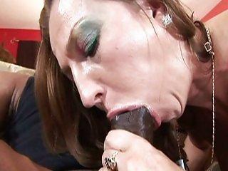 Brunette babe having interracial sex