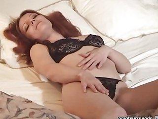 MILF lingerie amateur masturbating EXGF
